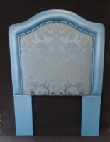 Headboard Blue Leather with Insert